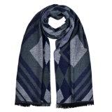 冬の暖かい編まれた編まれたショールのスカーフ(SP252)のような女性の180*65cmの可逆カシミヤ織