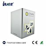 Soem-Form-Entwurf 7 Zoll LCD-videobroschüre für das Bekanntmachen des Geschenks