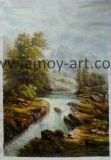 Workshop professionale per le pitture a olio classiche Handmade di paesaggio su tela di canapa