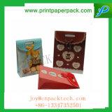 형식 크리스마스 또는 결혼식 사탕 선물 Kraft 주문을 받아서 만들어진 종이 봉지
