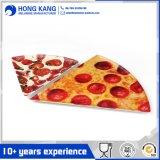 피자 모양 휴대용 저녁식사 음식 멜라민 격판덮개를 주문 설계하십시오