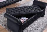 متأخّر تصميم جلد سرير مع إطار قابل للتعديل