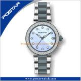 Seetingの石造りの腕時計が付いている光沢があるモップのダイヤル316Lのスチール・ケース