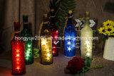Garrafas de vinho a cortiça acende as luzes de Seqüência de fio de cobre de 2 m / 7,2 metros de fio de cobre 15 lâmpadas de LED para garrafa DIY, Casamento de Natal