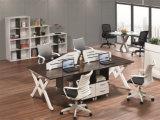 사무실 프로젝트를 위한 유행 4개의 시트 N 분할 멜라민 베니어 워크 스테이션