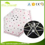 Fördernder heißer verkaufenfaltender mini Pocket Regenschirm 5 für Großverkauf