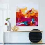 Het met de hand gemaakte Abstracte Olieverfschilderij Van uitstekende kwaliteit van multi-Kleuren met Brancard
