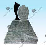 Headstone granito verde azeitona com guias de contenção para o Mercado Europeu