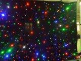 装飾の布LEDの淡いブルーおよび白いLEDの星のカーテン