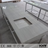 Superfície sólida personalizado de banho de pedra de acrílico vaidade topo