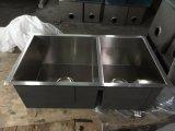 Met de hand gemaakte Gootsteen, de Gootsteen van Roestvrij staal 304, de Gootsteen van de Keuken Undermount, het Bassin van de Was door Met de hand gemaakt