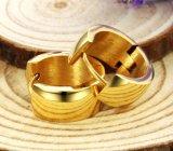 oorringen van het Roestvrij staal van 7mm de Brede anti-Allergische voor Oorringen van de Mensen van de Kleur van Mensen de Gouden Goedkope