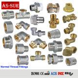 Harbed Adaptador de manguera del tubo de latón, montaje, colocación de tubería y tubo