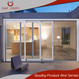 Power Coated Aluminum Sliding Panel Door with Double Tempered Glass
