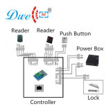 Leitor de cartão do Em da placa chave do Pin do plástico do controle RFID da porta de acesso