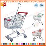 Supermarkt-Zink-oder Chrom-Einkaufen-Laufkatze (Zht58)