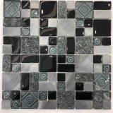 Tamaño de la aleatoria de color negro de cuarto de baño decoración mural mosaico Mosaico de vidrio (M855332)