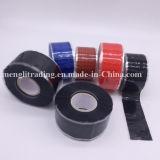 Bande adhésive en caoutchouc de silicones de boyau de température élevée provisoire de réparation