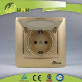 CE/TUV/CB Certified Европейский стандарт красочные пластину 1 токопроводящей дорожки белого винты с головкой под торцевой ключ Schuko Duet
