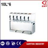 飲み物6タンク(GRT-LRYJ10L*6)を保つための感動的な飲料ディスペンサー