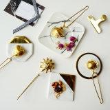 Neues heißes Gold überzogener Edelstahl-Maschendraht-Tee Infuser mit Griffen