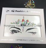 홍콩 황옥 공급자 피부 안전한 당 눈 스티커는 운영한다 마스크 주옥 모조 다이아몬드 바디 보석 마스크 Tatto 스티커 (ES002)를