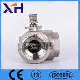 Нержавеющая сталь 304 трехстороннем согласовании шаровой клапан Dn20