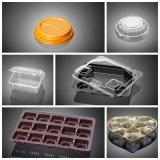 Machine automatique de Thermoforming de couvercle en plastique plat d'animal familier de rectangle