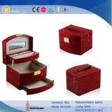 La boîte de rangement de luxe rouge élégant coffret à bijoux (5476)