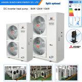Le mètre Room12kw/19kw/35kw du chauffage d'étage de l'hiver de Netherland-25c 100~350sq Automatique-Dégivrent le réservoir fendu de pompe à chaleur de l'eau d'air d'Evi de cop élevé