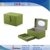 Vier Farben-kundenspezifisches doppelte Schicht-Leder-Schmucksache-Kasten-Verpacken (6775)