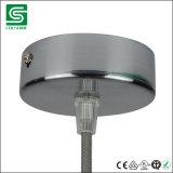 Dossel do teto do metal na cor do cromo para a lâmpada do pendente