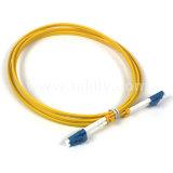 LC al duplex del solo modo del cable de la corrección de la fibra del LC - los 3m (los 9FT)