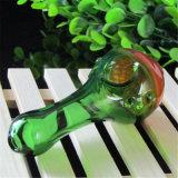 Tubo de cristal de cristal de la cuchara del tabaco de tubo de la mano del tubo de agua del tubo
