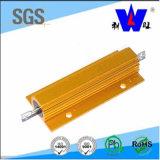 El aluminio del oro contuvo el resistor Wire-Wound del resistor Rx24 de la potencia