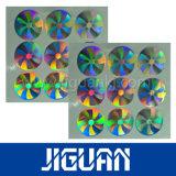 Anhaftender voller glatter Anti-Counterfeit Hologramm-Aufkleber der Bescheinigungs-3D