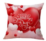 Coperchio di tela dell'ammortizzatore del cuscino di manovella dei biglietti di S. Valentino del cotone felice di giorno (35C0229)