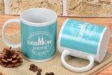 La etiqueta completa taza azul etiqueta personalizada Caja de regalo elegante diseño