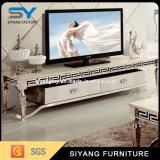 Домашняя мебель стеклянная подставка для телевизора с боковой шкафы телевизора