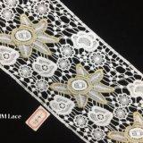 grande vieille Rose garniture large de lacet de 13.5cm, lacet Hme819 de lingerie de Chantilly