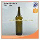 Forme ronde 750ml en verre vert bouteille de vin de Bordeaux