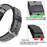 Tendenza della fascia di nylon di vendita calda del rimontaggio dell'orologio della fascia di nylon nera per Charge2