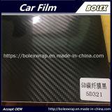 Brillante negro de fibra de carbono 5D coche cuerpo Vinilo1,52*18m