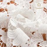 Tessuto poco costoso del merletto su ordinazione chiffon di modo di vendite dirette della fabbrica