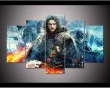 Gestaltetes Spiel des HD Druck-5PCS der Thron-John Snow-Segeltuch-Wand-Kunst, die modernen Hauptdekor-Wand-Kunst-Druck-Segeltuch-Farbanstrich anstreicht