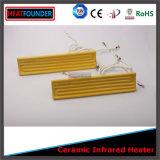 노란 색깔 먼 적외선 세라믹 난방 이미터 (편평한 모양)