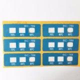 88 degrés de Multiwindow de température de papier de PVC étiquette les collants sensibles à la chaleur de couleur de modification