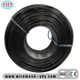Le noir a recuit le tissu de fil en métal de noir de fil de bobine d'obligatoire