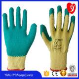 De blauwe Handschoenen van het Latex voor het Gebruik van het Werk van de Bouw van de Fabriek van China