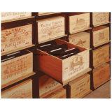 金属のロールアウトの大箱の記憶ラックを滑らせる木のワインボックス